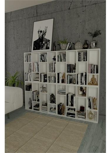 Mobitopya Dekoratif Kitaplık / Beyaz  4'Lü Beyaz